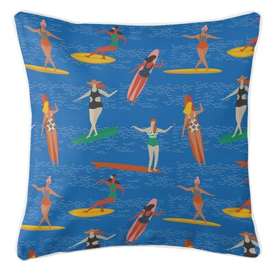 Surfer Girl Surf Party Throw Pillow