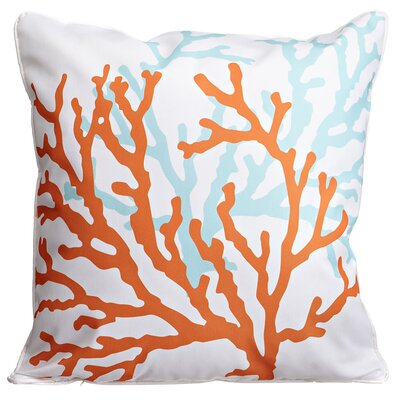Coral Duo Throw Pillow Color: White