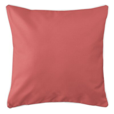 Sunset Key Throw Pillow Color: Coral