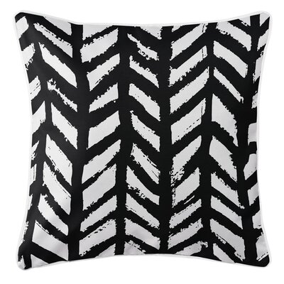 Grand Bahama Throw Pillow Color: Black