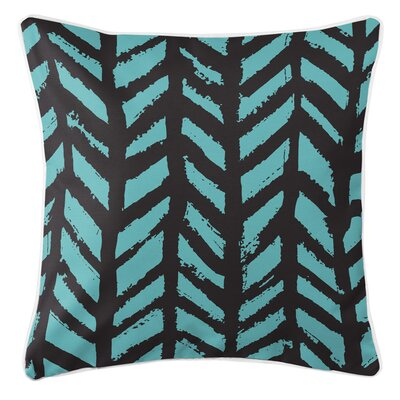 Grand Bahama Throw Pillow Color: Black/Aqua