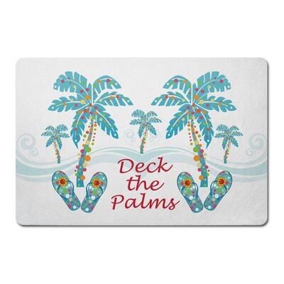 Deck The Palms Doormat