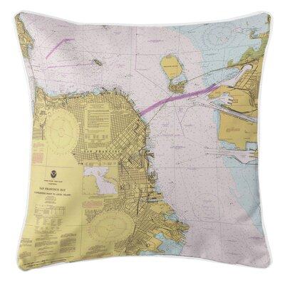 Nautical Chart San Francisco, CA Throw Pillow