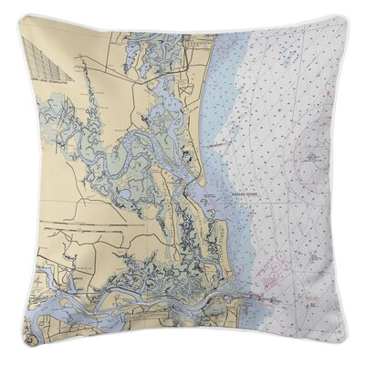 Nautical Chart Amelia Island, FL Throw Pillow