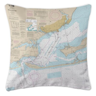 Ellisburg Pensacola Bay, FL Throw Pillow