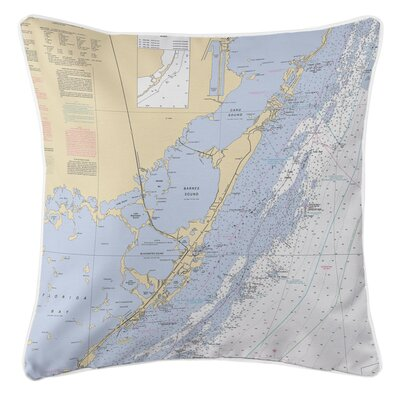 Nautical Chart Key Largo, FL Throw Pillow