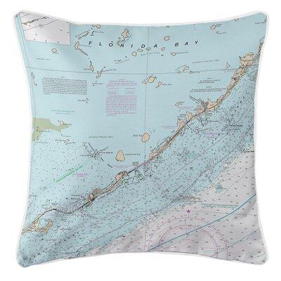 Nautical Chart Islamorada, FL Throw Pillow
