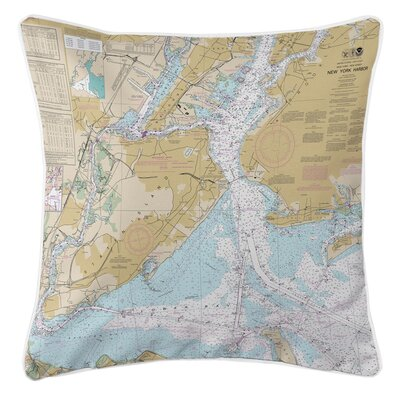 Ellisburg New York Harbor, NY Throw Pillow