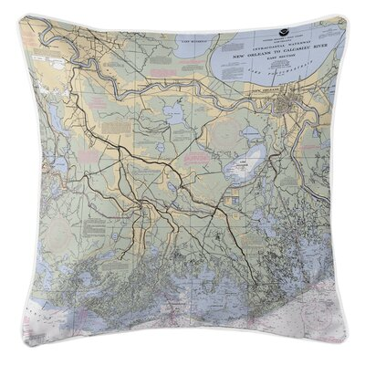 Ellisburg New Orleans, LA Throw Pillow
