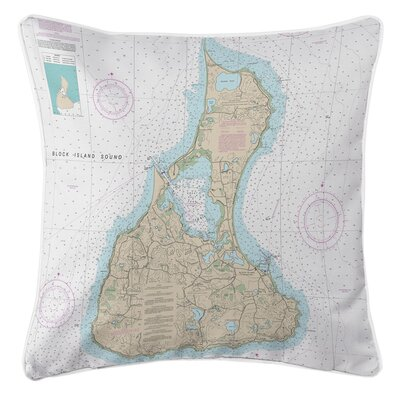 Ellisburg Block Island, RI Throw Pillow