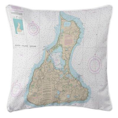 Nautical Chart Block Island, RI Throw Pillow