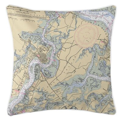 Ellisburg Beaufort & Ladys Island, SC Throw Pillow