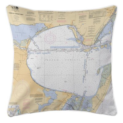 Ellisburg Corpus Christi Bay, TX Throw Pillow