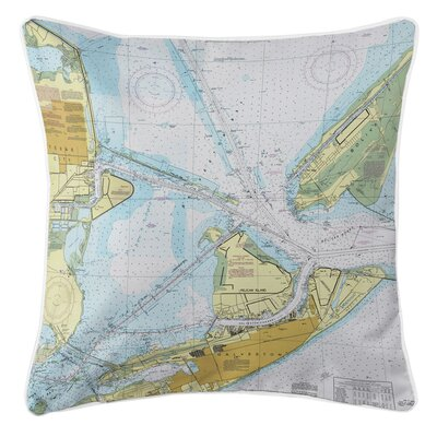Ellisburg Galveston, TX Throw Pillow