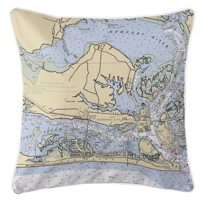 Ellisburg Morehead City, NC Throw Pillow