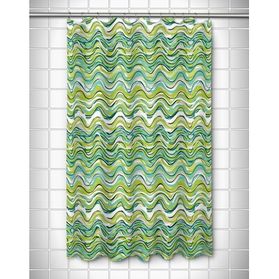 Grand Bahama Wave Rider Shower Curtain