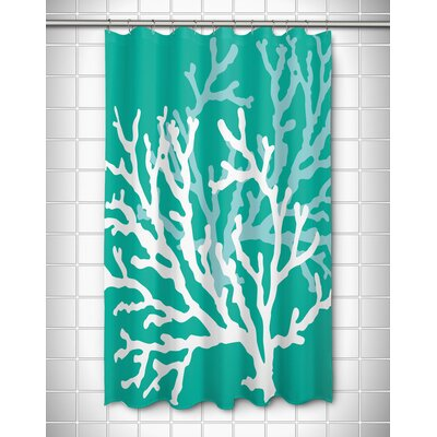 Waterbury Nautical Shower Curtain Color: Aqua