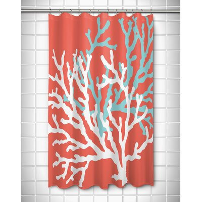 Coral Duo Shower Curtain Color: Coral