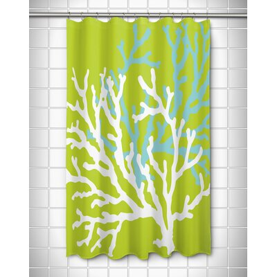 Waterbury Nautical Shower Curtain Color: Lime
