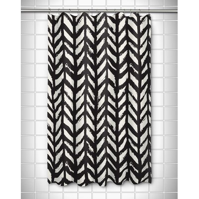 Grand Bahama Drifter Shower Curtain Color: Black/White