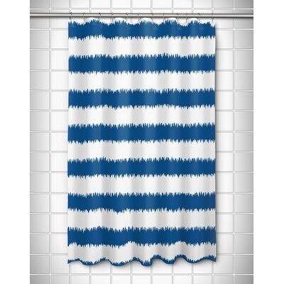 Kromer Rumors Shower Curtain Color: Blue