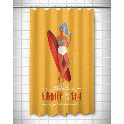 Surfer Girls Val Shower Curtain