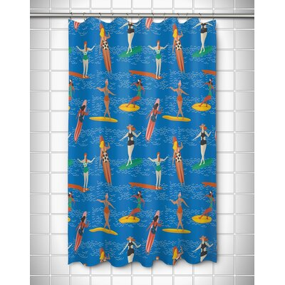 Surfer Girls Surf Party Shower Curtain