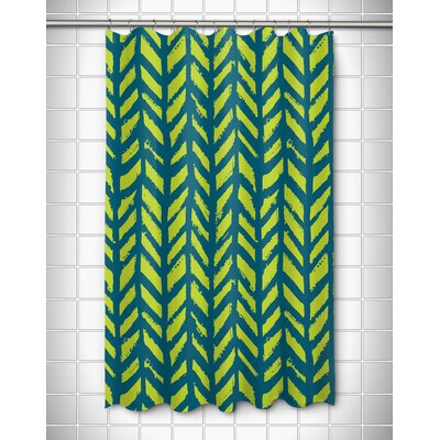 Grand Bahama Drifter Shower Curtain Color: Turquoise/Lime