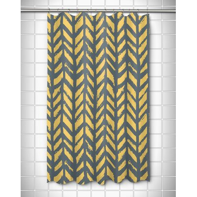 Grand Bahama Drifter Shower Curtain Color: Gray/Yellow