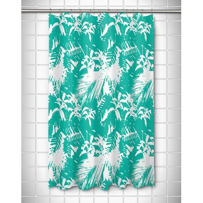 Danin Island Getaway Shower Curtain Color: Aqua