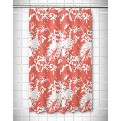 Danin Island Getaway Shower Curtain Color: Coral
