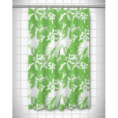 Danin Island Getaway Shower Curtain Color: Green