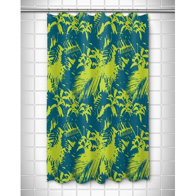 Walker`s Cay Island Getaway Shower Curtain Color: Turquoise