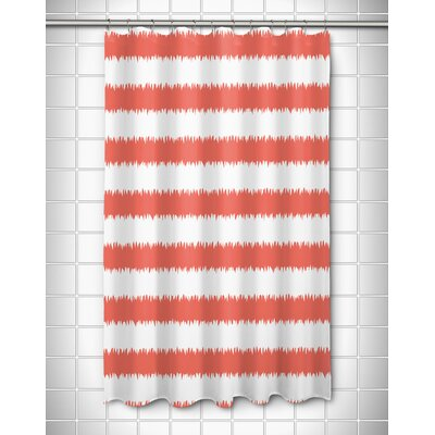 Kromer Rumors Shower Curtain Color: Coral