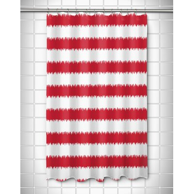 Siesta Key Rumors Shower Curtain Color: Red