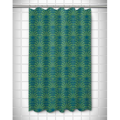 Modern Art Deco Goldenrod Shower Curtain Color: Turquoise