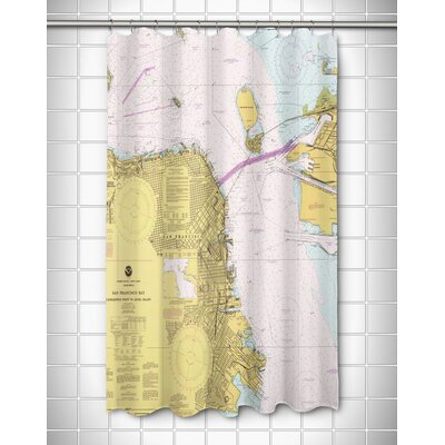 Nautical Chart San Francisco, CA Shower Curtain