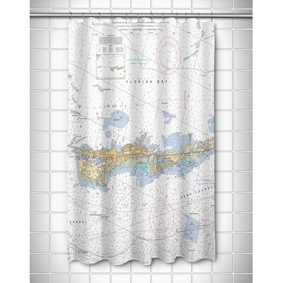 Nautical Chart Vaca Key Marathon, FL Shower Curtain