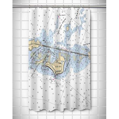 Nautical Chart Duck Key, FL Shower Curtain