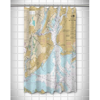 Ellisburg New York Harbor, NY Shower Curtain