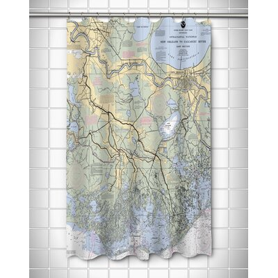 Nautical Chart New Orleans, LA Shower Curtain