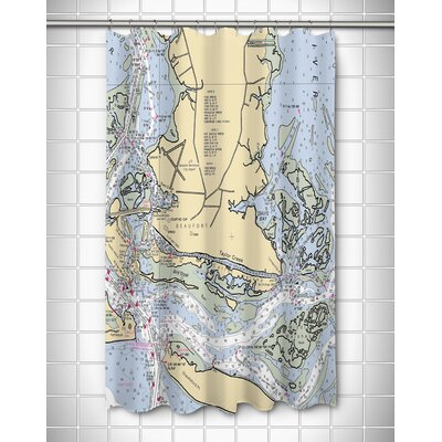 Nautical Chart Beaufort, NC Shower Curtain