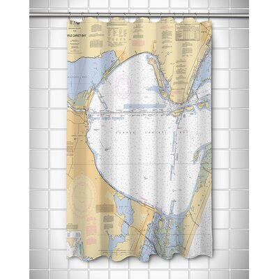 Nautical Chart Corpus Christi Bay, TX Shower Curtain