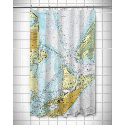 Ellisburg Galveston, TX Shower Curtain