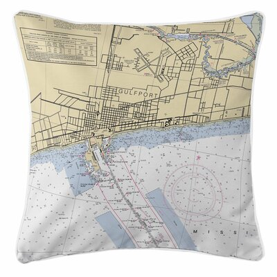 Addyson Gulfport, MS Throw Pillow