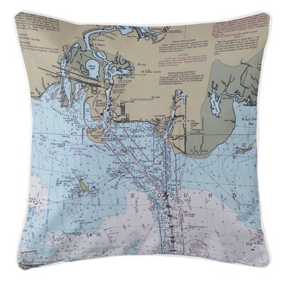 Ellisburg Pascagoula, MS Throw Pillow