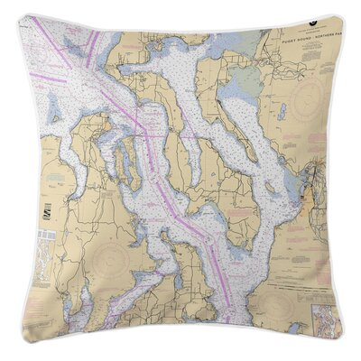 Ellisburg Puget Sound Northern, WA Throw Pillow