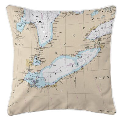 Cabravale Lake Erie Throw Pillow