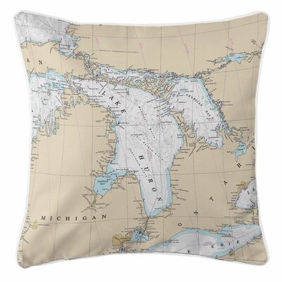 Addyson Lake Huron Throw Pillow