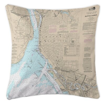 Ellisburg Buffalo Harbor, NY Throw Pillow